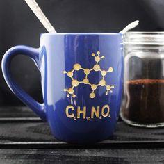 A personal favorite from my Etsy shop https://www.etsy.com/listing/491622953/coffee-compund-mug-morning-joe-science