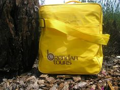 VINTAGE! Yellow Brendan Tours Travel Bag Retro 80's Kitschy SUPER COOL!  #Unbranded #ToteBag
