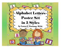 Alphabet Letters Posters 3 Ways Sampler Set from K.I.S.S.Teacher Publications on TeachersNotebook.com -  (5 pages)  - 3 styles of alphabet letter line poster