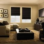 Living Room Chairs Home Depot Elegant Levolor Roman Shades Shades the Home Depot Types Of Window Treatments, Custom Window Treatments, My Living Room, Living Room Chairs, Barn Living, Dining Room, Black Blinds, Room Darkening Shades, Cordless Roman Shades