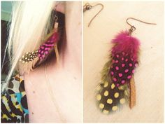 DIY Leather & Feather Earring