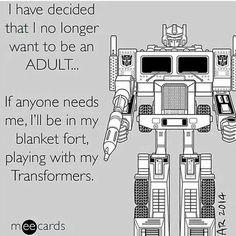 I have had enough of adulthood - I'm retiring.
