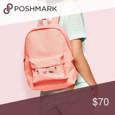 ⚡️🛍Limited 2017 Edition!!! Mini Backpack!!!!⚡️🛍 Get this while you can. This Backpack comes with pins and is an awesome color!!! Great for school, work, or everyday errands!!! PINK Victoria's Secret Bags Backpacks