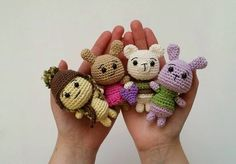 Check out these super cute critters @amidorable made with Lion Brand's Bonbons yarn!