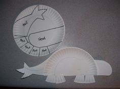 Paper plate dinosaurs - cutting and construction!