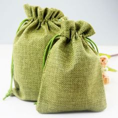 5-10-50-Wedding-Favor-Hessian-Burlap-Jute-Favour-Gift-Bags-Drawstring-Sack-Pouch