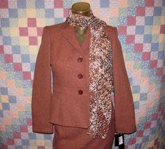 Le Suit Petite Womens Career Business Suit Set Skirt & Blazer Jacket Size 2P NEW #LeSuitPetite #RockHillSkirtSuit