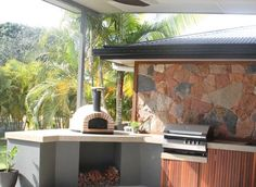 JA70 (RB – B) – (Real Brick Arch – with Granite Bench) – Jalando Pizza Ovens Melbourne