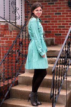 #Mint Green Coat   Missoni Dress