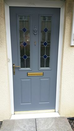 Richmond Style Front Door Painted In Gallant Grey By