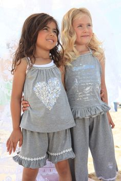 look at the details of the heart all with beads and sequins... that is the mimpi style mimpi cute grey kids fashion girls