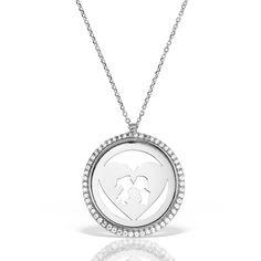 Colier argint cu pietre 42 cm Indragostiti Heart & Kiss - MCN0040 Pendant Necklace, Diamond, Jewelry, Jewlery, Jewerly, Schmuck, Diamonds, Jewels, Jewelery