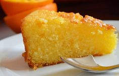 Food Cakes, Easy Cake Recipes, Dessert Recipes, Orange Polenta Cake, Polenta Cakes, Turkish Recipes, Ethnic Recipes, Light Recipes, Stevia
