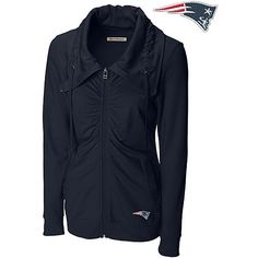 Women's New England #Patriots Game Day Full Zip Hooded Sweatshirt ...