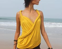 Butterfly-top with a back decolette  - Lungi - convertible dress - infinity dress - transformer dress