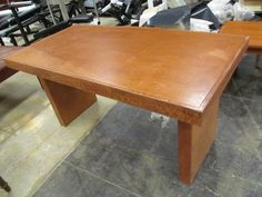 We have this Dining table for sale. Please email if interested.  Restain?