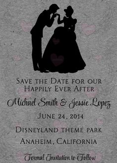 Save the Date Cinderella Inspired Disney   by SonalasPoshPaper, $15.00