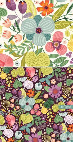 Gouache illustration / pattern design of tropical palm leaf, banana leaf and monstera leaf Magazine Illustration, Pattern Illustration, Surface Pattern Design, Pattern Art, Textile Patterns, Print Patterns, Floral Patterns, Design Patterns, Floral Illustrations