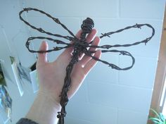 Barbed Wire Dragonfly  by Clover Maid on Etsy