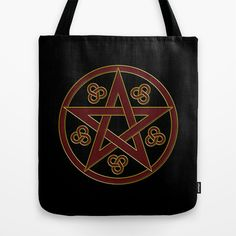Pentagram Tote Bag by Pedro Vale - $22.00