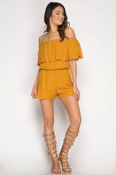 df1bb34cb8f067 Shop Michigan   Madison · Spring 2018 Women s Fashion Off Shoulder Romper