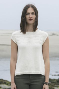 atlee by leah b. thibault / in quince & co. willet cleaner cotton™, color sail