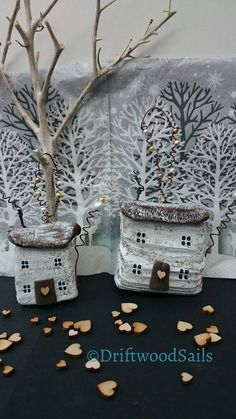 Check out this item in my Etsy shop https://www.etsy.com/uk/listing/479502190/hanging-christmas-driftwood-cottages