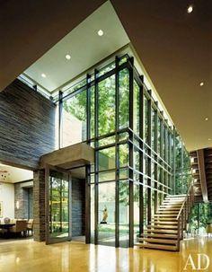 glass double volume entrances - Google Search