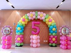 Be a guest at your own event. Because in your dreams, every detail matters! Candy Theme Birthday Party, My Little Pony Birthday Party, Trolls Birthday Party, Birthday Balloon Decorations, Rainbow Birthday, Birthday Balloons, Balloon Columns, Balloon Arch, Deco Ballon