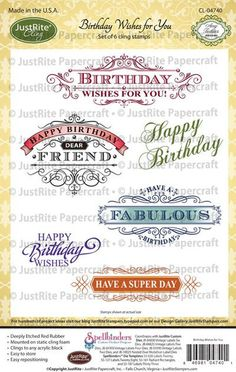 Just Rite Birthday Wishes for You Cling
