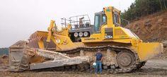 Komatsu 575 bulldozer. Biggest construction bulldozer.