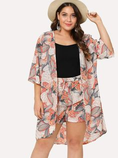 9948f11dfc9 Curve   Plus Co-Ord Matching Two-Piece Kimono   Shorts Set