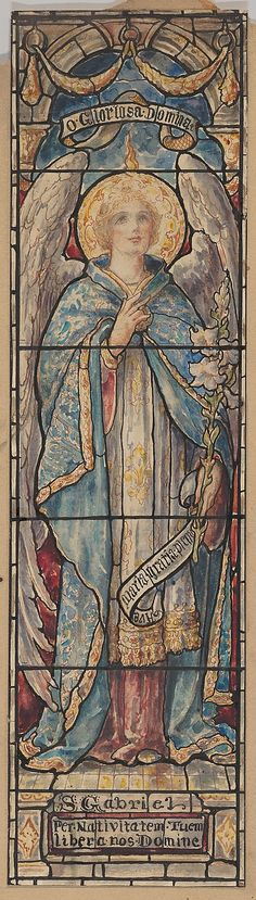 St. Gabriel: Design for a Stained Glass Window Designed and drawn by D. Maitland Armstrong (American, Newburgh, New York 1836–1918 New York...