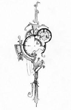 Tattoo, key, time.