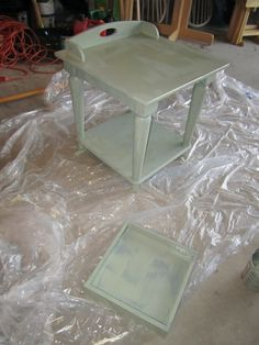 Cheap and Wise: Chalk Paint End Tables - an Experiment