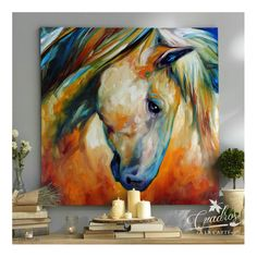 Fauna Caballo Nostalgia - Cuadros Decorativos Al Óleo - CUADROS A LA CARTE - CUADROS DECORATIVOS AL OLEO Abstract Horse Painting, Painting & Drawing, Abstract Art, Abstract Landscape, Arte Equina, Horse Artwork, Horse Drawings, Equine Art, Animal Paintings