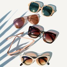 We've been on the lookout for the ultimate statement-makers of the season and have compiled a roundup of what sunnies to wear to make a splash. Cat Eye Sunglasses, Round Sunglasses, Pink Eyeglasses, Designer Shades, Cute Glasses, Retro Baby, Chanel, Instagram Shop, Sunnies