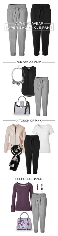 Wondering how to wear our new trendy Paper Bag Ankle Pant? The key is to tuck in your top to showcase the cinched waist and stylish tie belt. Don't be afraid to tuck in that sweater too! Belt Tying, Ankle Pants, Pink Purple, Key, Elegant, Stylish, Chic, Paper, Sweaters