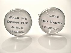 PERSANOLIZED  Dad Cufflinks Father of the Bride CUFFLINKS Dad Gift WEDDING  Men Walk me Down  Aisle Cuff Links I Love You Daddy Father Gift