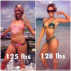 "Double Tap if You Are Impressed!   @alyssanilssonfitness ""THE NUMBER ON THE SCALE DOESNT TELL THE WHOLE STORY . Barely a difference in scale weight between these two photos of meBut obviously a very significant difference in my BODY COMPOSITION. More musc http://healthyquickly.com"
