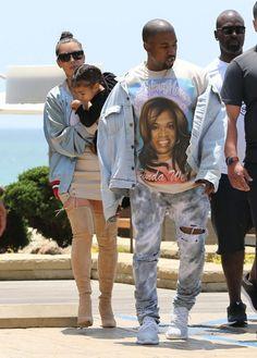 Kim Kardashian and Kanye West at Malibu http://kardashianjennerbuzz.com/   #KimKardashian #KanyeWest