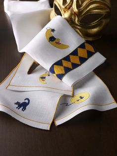 Halloween Cats & Moons  Guest towels & Cocktail Napkins