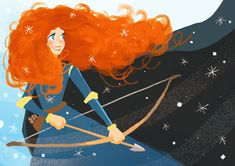 Merida by Hachi Lee Merida Disney, Disney Nerd, Disney Fanatic, Disney Fan Art, Disney Girls, Brave Merida, Disney And Dreamworks, Disney Pixar, Walt Disney