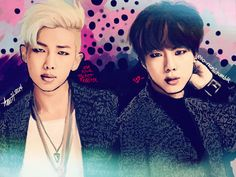 Namjoon + Jin by eto-nani on DeviantArt