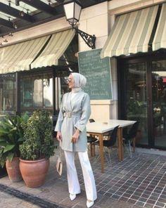 ✔ Office Outfits Women Casual Summer Source by dress hijab Modest Fashion Hijab, Modern Hijab Fashion, Street Hijab Fashion, Casual Hijab Outfit, Hijab Chic, Hijab Dress, Hijab Fashion Summer, Dress Casual, Swag Dress