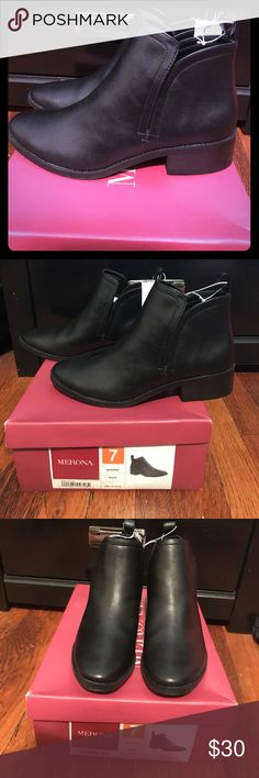 Merona Ankle Boots size 7 These ankle boots are perfect for everyday use! Merona Shoes Ankle Boots & Booties