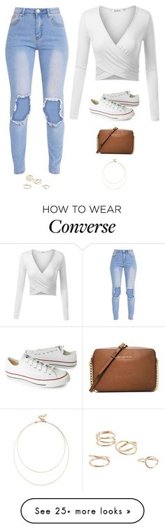 """Untitled #3504"" by twerkinonmaz on Polyvore featuring Converse, MICHAEL Michael Kors, Sole Society and MANGO"