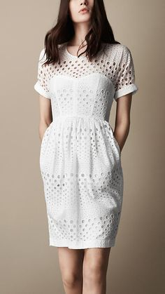 Broderie Anglaise Tulip Dress | Burberry