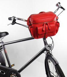 do roweru-Torba rowerowa MmeVelo LOVE czerwona