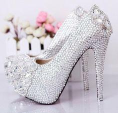 8967239cf5683f Rhinestone Wedding Shoes by MarshayInvites on Etsy